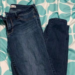 Hollister low rise skinny jeans, dark wash